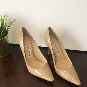 Brand new Nude Jimmy Choo Patent leather pumps